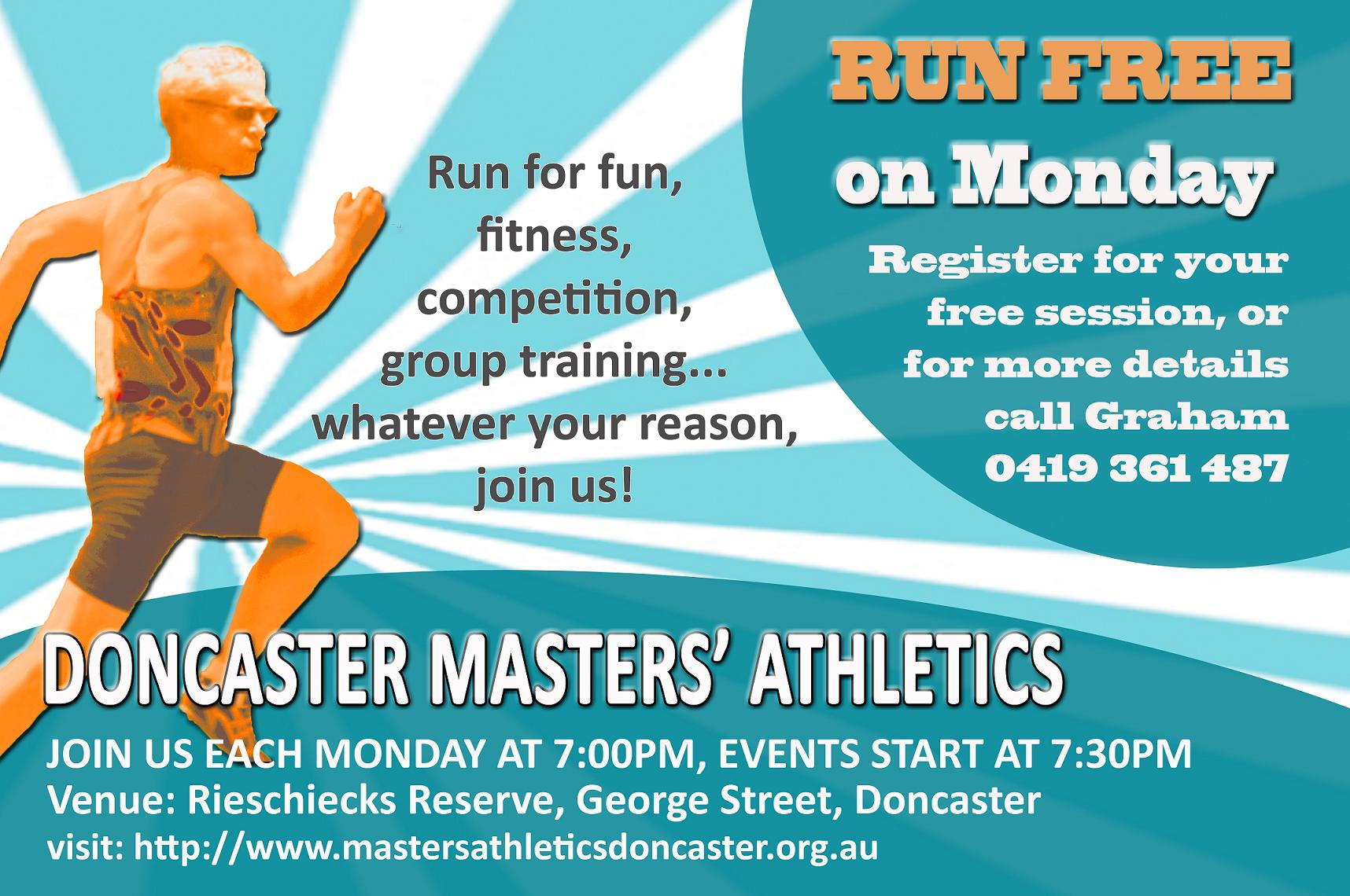 Doncaster Masters' Athletics Flyer